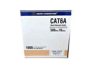 Micro Connectors 1000' Stranded Shielded (STP) CAT6A Bulk Ethernet Cable - Blue (TR4-570SS-BL)