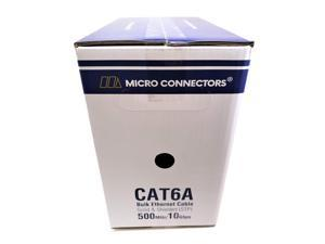 Micro Connectors 500' Stranded Shielded (STP) CAT6A Bulk Ethernet Cable - Blue (TR4-570SSBL-500)