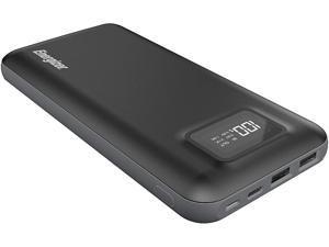 Energizer 20000mAh LCD Display Portable Power Bank, Black #UE20018-BK