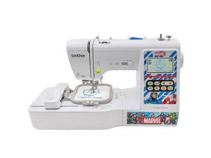 Brother Marvel Computerized Sewing and Embroidery Machine, White LB5000M