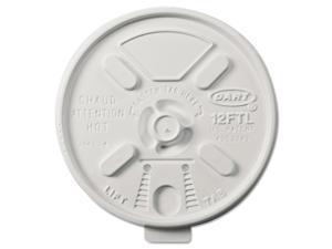 DART Vented Foam Lids for 10-14 oz Foam Cups Lift n' Lock Lid 12FTL