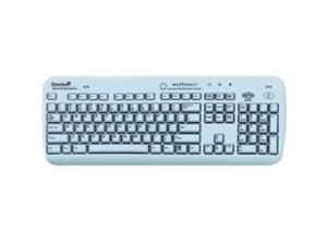 ESTERLINE K104C02US Medigenic 104-Key Compliance Keyboard for PC - Light Blue
