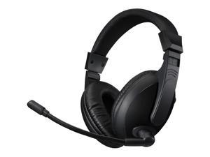 Adesso Black Xtream H5U USB Connector Stereo USB Multimedia Headphone/Headset with Microphone