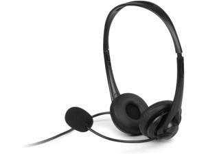 Aluratek Wired USB Headset with Noise Reducing Boom Mic, Black AWHU01FJ