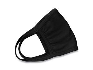 Cotton Face Mask with Antimicrobial Finish, Black, 10/Pack 24446905