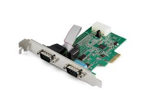 StarTech 2 Port PCIe RS232 Serial Adapter Card PEX2S953