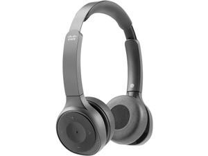 Cisco 730 Wireless Dual On-ear Headset+Stand USB-A Bundle Carbon