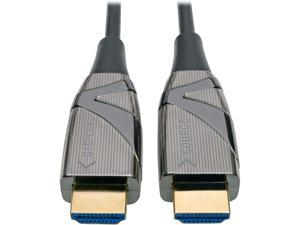 Tripp Lite Fiber Optic HDMI 2.0 (Active HDMI Cable), High Speed HDMI Cable, 4K, 60Hz, 4:4:4, 18 Gbps, 10 m. (33 ft.) Black (P568-10M-FBR)