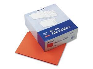 Pendaflex Colored End Tab Folders 2-Ply Straight Cut Tabs Letter Orange 100/Box
