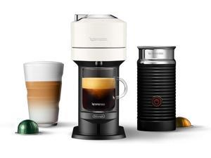 Nespresso Vertuo Next Coffee and Espresso Machine by De'Longhi, White w/Aeroccino Milk Frother, One Touch Brew, Single-Serve Coffee and Espresso Maker - White
