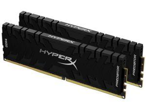 HyperX Predator 64GB 2666MHz DDR4 CL15 DIMM (Kit of 2) XMP HX426C15PB3K2/64, Black