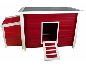 New Age Pet ECHK103-B-Rd Fontana Chicken Barn Red Maple