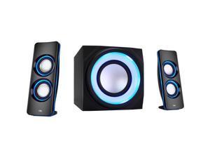 Cyber Acoustics Curve Ca-3712Bt 2.1 Bluetooth Speaker System - Black