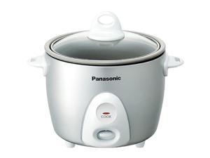 Panasonic SR-G06FGL Automatic Rice Cooker, Silver