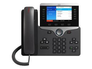 Cisco CP-8851-3PCC-K9= 8851 IP Phone - Bluetooth - Desktop, Wall Mountable - Charcoal