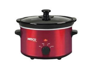 BRENTWOOD SC-150R Slow Cooker 6.5Qt Red