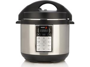 Fagor LUX Multi-Cooker 4-Quart Electric Pressure Slow and Rice Cooker Silver