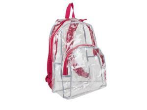 Eastsport 2303245 Clear All-Day Backpack, Red - Case of 12 - 12 Per Pack