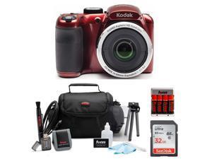 KODAK PIXPRO AZ252 Astro Zoom Digital Camera (Red) Bundle