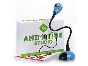 hue animation studio (blue) for windows pcs and apple mac os x: complete stop motion animation kit with camera, software and bo