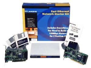 linksys internet lanbridge starter kit 2-10/100 pci cards 1 4-port hub