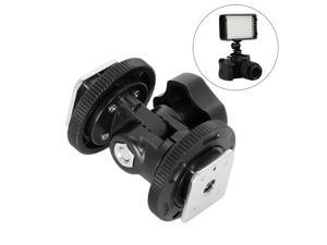 JJC Standard Hot Shoe Mount Adapter ISO 518 Hot Shoe with 1//4-20 Threaded Stud /& Locking Ring for Camera Cage Rig//Padcaster Flash LED Light Microphone Tripod Light Stand with 1//4-20 Threaded Socket