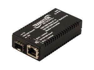 Transition Networks M/GE-PSW-SFP-01-NA Mini 10/100/1000 Bridging Media Converter