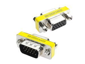 VGA Female to female jack DB15 pin Convertor Adapter  for Monitors Projectors VGA Splitters KVM