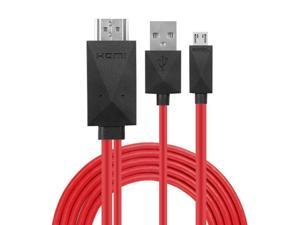 Fun-Home 6.5 Feet 11 Pin Micro USB to HDMI Adapter Cable 1080P HDTV for Samsung Galaxy S5 S4 S3 Note 3 Note 2 Galaxy Tab 3 8.0 Tab 3 10.1 Tab Pro Galaxy Note 8 Note Pro 12.2