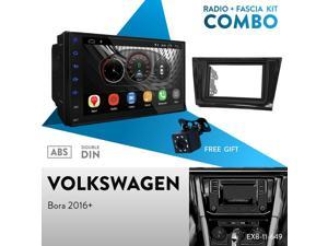 """UGAR EX10 7"""" Android 10.0 DSP Car Stereo Radio Plus 11-649 Fascia Kit Compatible with Volkswagen Bora 2016+"""