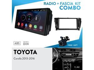 "UGAR EX6 7"" Android 6.0 Car Stereo Radio Plus 11-461 Fascia Kit for Toyota Corolla 2013-2016 (Left Wheel)"