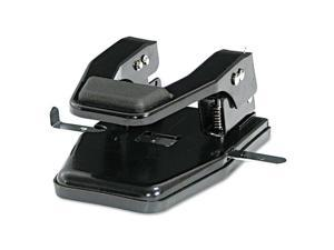 "Master 40-Sheet Heavy-Duty Two-Hole Punch 9/32"" Holes Padded Handle Black MP250"