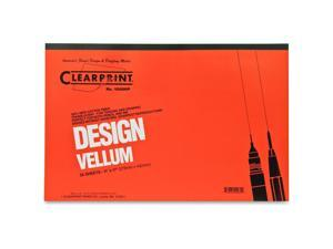 "Chartpak Vellum Pad 50 Sheets Acid-free 11""x17"" White 10001416"