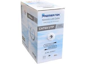 Premiertek CAT6A 1000FT Copper White ULCMRCAT6AW