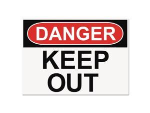 Headline Sign OSHA Safety Signs DANGER KEEP OUT White/Red/Black 10 x 14 5491