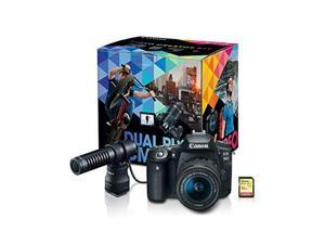 Canon EOS 90D Video Creator Kit with EF-S 18-55mm f/3.5-5.6 IS STM Lens - 3616C074