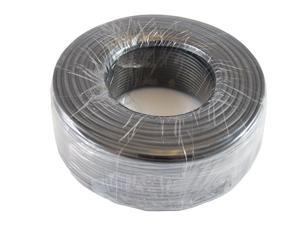 Round Phone Cable - Tupavco TP802 - 300ft Black Roll (100 M - 328 ft) 4X1/0.4 Reel Telephone Cord