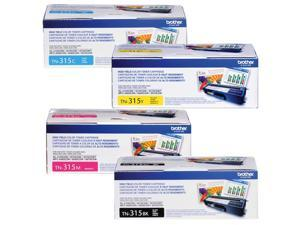 Brother TN315 High Yield Toner (4) Pack.  Include (1) TN315BK, (1) TN315C, (1) TN315M, (1) TN315Y