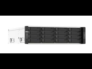 GM-1002-US QNAP 3U 16 (+4) Bay dual-node NAS, Intel® Xeon® E-2236 6-core 3.4 GHz processor (burst up to 4.8 GHz) per node, 16 GB UDIMM DDR4