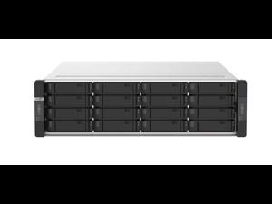 GM-1001-US QNAP 3U 16 (+4) Bay dual-node NAS, Intel® Xeon® E-2234 4-core 3.6 GHz processor (burst up to 4.8 GHz) per node, 8 GB UDIMM DDR4
