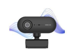 Webcam, 1080PHD Autofocus 360-Degrees Rotation Lens Live Broadcast USB Driver-free WebCamera with Mic