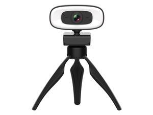 Webcam, 2K HD Without Distortion 360 Degrees Rotate Three-speed Fill Light USB Free Drive Webcams, Built-in Clear Sound Microphone