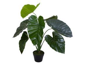 """40"""" Green Artificial Taro Potted Plant"""