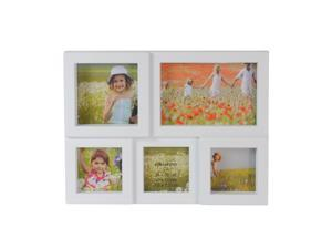 "11.5"" White Multi-Sized Photo Frame Collage Wall Decoration"
