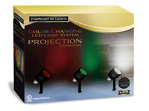Indoor/Outdoor Dynamic LED Symphony of Lights Color Changing Projection System