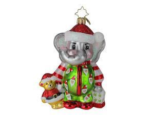 Christopher Radko Sleep Tight Baby Elephant Glass Christmas Ornament #1019692