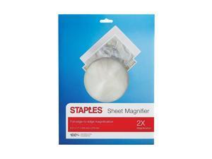 "Staples Sheet Magnifier 2x Magnification 8.5""x11"" (52372) 2831809"