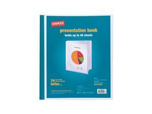 Staples Presentation Binder 24 Sleeve Capacity White 463364