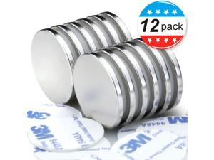 Permanent Rare Earth Magnets. Fridge, DIY, Building, Scientific, Craft, and Office Magnets, Pack of 12