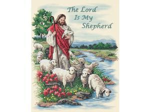Dimensions The Lord Is My Shepherd Stamped Cross Stitch Kit: 11x14